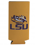 LSU Tigers Neoprene Skinny Can Coozie -Gold