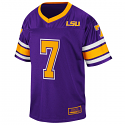 LSU Tigers Colosseum #7 Toddler, Child & Youth Football Jersey - Purple