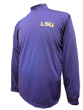 LSU Tigers Men's Performance Mock Turtle Neck Long Sleeve Shirt - Purple