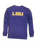 LSU Tigers Tackle Twill Crew Neck Sweat Shirt - Purple