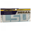 LSU Tigers Premium Geaux Font Vinyl Decal - White