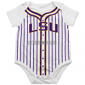 Colosseum LSU Tigers Infant Fast Ball Baseball Onesie - White