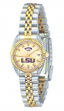 LSU Classic 2-Tone Diamond Watch for Women with Gold Background Custom Made by Taylor Watches