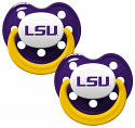 LSU Tigers 2-Pack Pacifiers - Purple, Gold & White