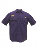 LSU Tigers Men's Performance Fishing Shirt by Chiliwear - Purple