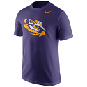 LSU Tigers Nike Men's Tiger Eye Logo Short Sleeve Cotton Tee - Purple