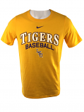 Nike LSU Tigers Youth Cotton Athletic Cut Script Baseball Tee - Gold