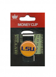 LSU Tigers  Metal Money Clip with Gold Domed Logo