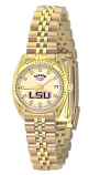 LSU Classic Gold Diamond Watch for Women with Gold Background Custom Made by Taylor Watches