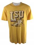 LSU Tigers Men's College Vault Cotton Scrum Baseball Tee - Gold