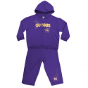 LSU Tigers INFANT & TODDLER GIRL'S Starburst Fleece Set - Purple