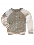LSU Tigers Toddler & Youth Hope Lightweight Quilted Jacket - Grey & White