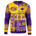 LSU Tigers Winter Knit Pullover Long Sleeve Ugly Sweater - Purple and Gold