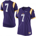 Nike LSU Tigers Women's # 7 Game Replica Football Jersey - Purple