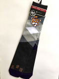 LSU Tigers Large Performance Argyle Sock - Charcoal Grey and Purple