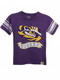 LSU Tigers Toddler, Child, and Youth Blend Short Sleeve Jersey Top - Purple