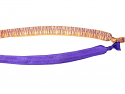 Elastic Head Band - Solid Purple or Purple and Gold Tiger Stripe (price per headband)