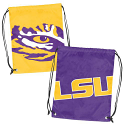 LSU Tigers Doubleheader Tiger Eye Logo Backsack - Purple and Gold