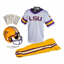 LSU Tigers Child's Deluxe Football Uniform Set with Helmet