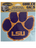 "LSU Tigers Cooler Cals 6"" Paw Decal - Purple, Gold & White"
