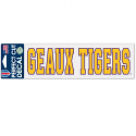 """LSU Geaux Tigers Die Cut 3""""x10"""" Decal - Purple and Gold"""