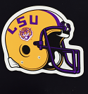 "LSU Tigers 3"" Helmet Auto Magnet - Purple and Gold"