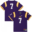 Nike LSU Tigers Toddler's #7 Football Jersey - Purple