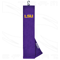 LSU Tigers Face/Club® Embroidered Golf Towel - Purple