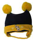 LSU Tigers TODDLER Snow Day Doubler Pom Pom Cap - Purple and Gold