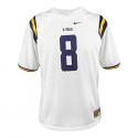 Nike LSU Tigers #8 CHILD'S Game Football Jersey – White