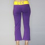 LSU Tigers Crop Yoga Pant - Purple and Gold