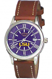 LSU Brown Leather Sport Watch Custom Made by Taylor Watches
