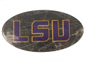 "LSU Tigers 5.5"" Domed Oval Camo Decal - Camo"