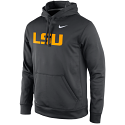 Nike LSU Tigers Performance Practice Pullover Hoody - Anthracite