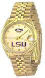 LSU Classic Gold Diamond Watch for Men with Gold Background Custom Made by Taylor Watches