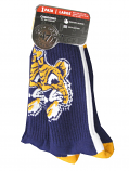 LSU Tigers Bolt Beanie Tiger Moisture Wicking Tall Socks - Purple, Gold, and White
