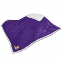 Logo LSU Tigers Purple Sherpa Blanket