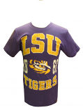 LSU Tigers Colosseum Vintage Tiger Eye 1860 T-Shirt - Purple - Up to 2X