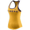 Nike LSU Tigers Women's Marled Wordmark Tank Top - Gold