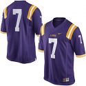 Nike LSU Tigers Men's #7 Gameday Football Jersey - Purple