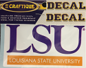 "LSU Tigers 4"" Premium Vinyl Decal with REFLECTIVE  Louisiana State University Bar"