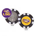 LSU Tigers Poker Chip Golf Ball Marker - Purple and Gold