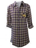 LSU Tigers Women's Flannel Plaid Night Shirt - Purple, Gold and White
