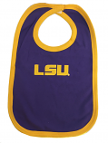 LSU Tigers Infant Embroidered Bib - Purple and Gold