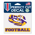 "LSU Tigers Football Tiger Eye Die Cut 4""x5"" Decal - Purple, Gold, and White"
