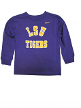 LSU Tigers CHILD Long Sleeve Logo Tee - Purple