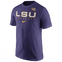 Nike LSU Tigers Youth Football Practice T-Shirt - Purple