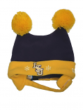 LSU Tigers INFANT Snow Day Doubler Pompom Fleece Hat - Purple & Gold
