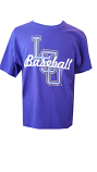 LSU Tigers Short Sleeve Script Baseball T-Shirt - Purple