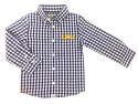 LSU Tigers Infant and Toddler Logan Gingham Long Sleeve Button Down Shirt - Purple and White